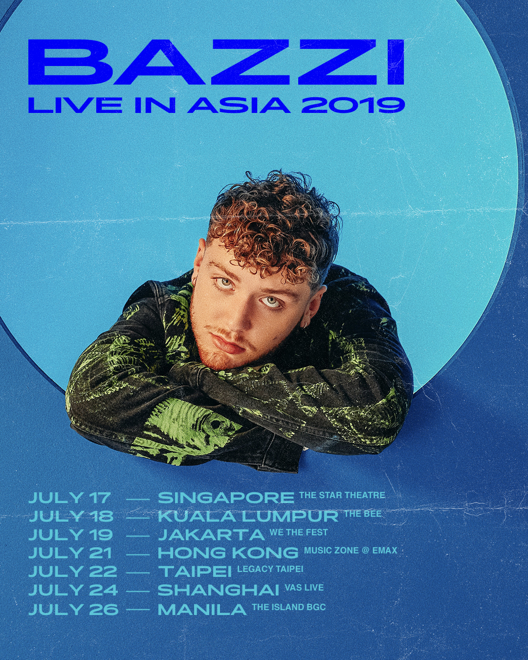 Bazzi Asian Tour Poster